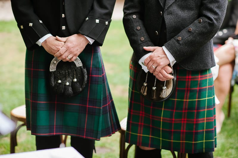 scottish wedding ceremony with kilt in verona