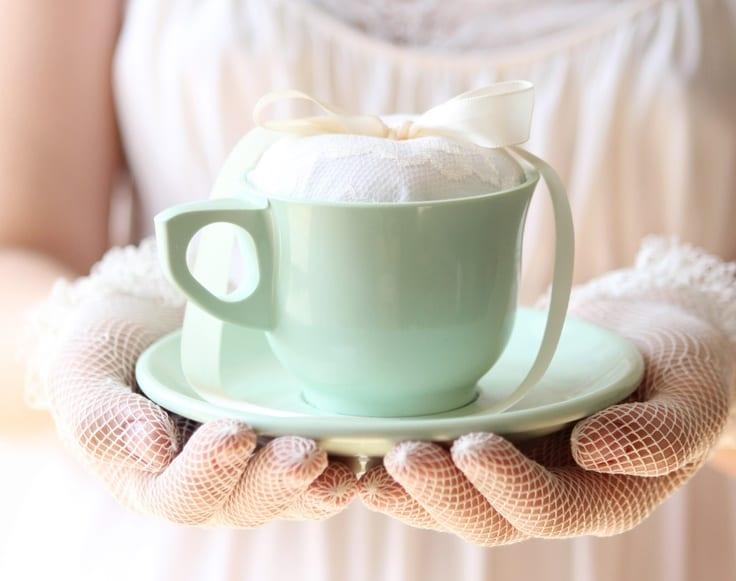 portafedi romantico tazza da tè