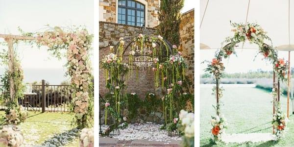 arco fiorito cerimonia matrimonio primaverile