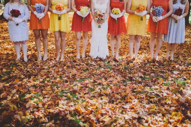 abiti damigelle cerimonia in autunno