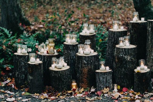 cerimonia di nozze nel bosco