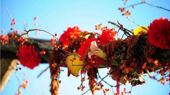 idee per una cerimonia di matrimonio in autunno