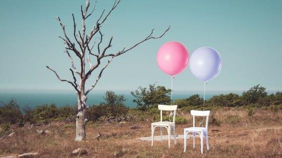 sedie con palloncini