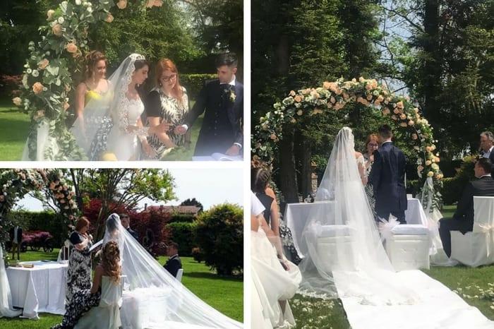 Celebrante Matrimonio Simbolico Roma : Cerimonia simbolica giardino claudia carbonara celebrante