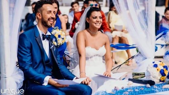 Andrea e Morena, una cerimonia piena di sorprese a Albenga, Savona