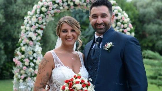 Gaetano e Serena, una cerimonia romantica in giardino
