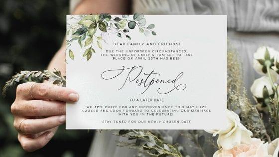 Matrimonio rimandato: come cambia la cerimonia?